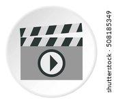 clapboard icon. flat... | Shutterstock . vector #508185349