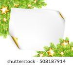 christmas background with sheet ... | Shutterstock .eps vector #508187914