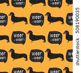 dachshund dog seamless pattern... | Shutterstock .eps vector #508190035