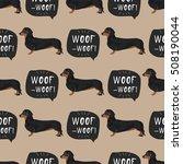 dachshund dog seamless pattern... | Shutterstock .eps vector #508190044