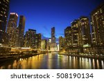 Skyline Of Chicago Along The...