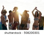 beach party freedom vacation... | Shutterstock . vector #508200301