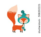 cartoon fox icon | Shutterstock .eps vector #508202221