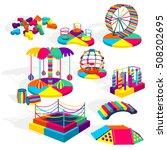 play equipment. set. playground.... | Shutterstock .eps vector #508202695