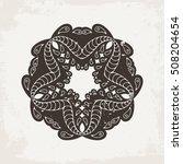 vector mandala. mehndi lace... | Shutterstock .eps vector #508204654