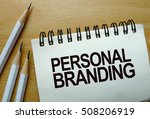 personal branding text written... | Shutterstock . vector #508206919