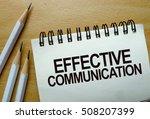 effective communication text... | Shutterstock . vector #508207399