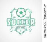 soccer emblem green line icon... | Shutterstock .eps vector #508209469