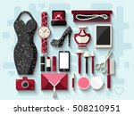 evening woman's accessories and ... | Shutterstock .eps vector #508210951