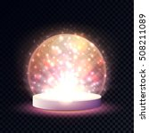 shining crystal ball on a...   Shutterstock .eps vector #508211089