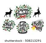 merry christmas and a happy new ... | Shutterstock .eps vector #508213291