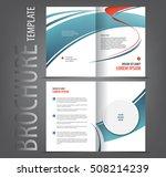 vector empty bi fold brochure... | Shutterstock .eps vector #508214239