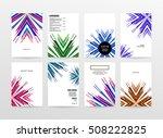 geometric background template... | Shutterstock .eps vector #508222825