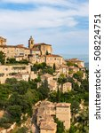 gordes medieval village.... | Shutterstock . vector #508224751