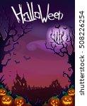 happy halloween background.... | Shutterstock . vector #508226254
