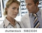 doctors standing by brain scan... | Shutterstock . vector #50823334