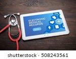 electronic medical records on... | Shutterstock . vector #508243561
