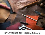 leather craft or leather... | Shutterstock . vector #508253179