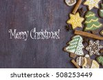 merry xmas year card | Shutterstock . vector #508253449