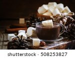 liquid chocolate with... | Shutterstock . vector #508253827