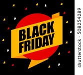 black friday discount sale... | Shutterstock .eps vector #508254289
