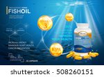 fish oil ads template  omega 3... | Shutterstock .eps vector #508260151
