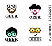 geek  nerd  smart logo design... | Shutterstock .eps vector #508262089