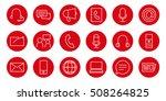 communication icons set | Shutterstock .eps vector #508264825
