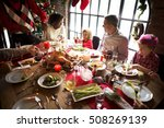 family together christmas... | Shutterstock . vector #508269139