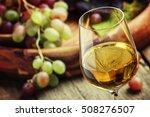autumn ice wine  ripe grapes... | Shutterstock . vector #508276507