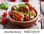 Meatballs With Tomato Sauce An...