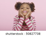 young girl smiling  head in... | Shutterstock . vector #50827738