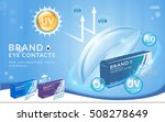 eye contacts ads template  uv... | Shutterstock . vector #508278649