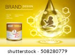 infant formula advertisement ... | Shutterstock .eps vector #508280779