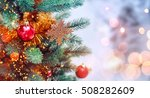 christmas tree background and... | Shutterstock . vector #508282609