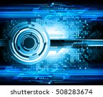 future technology  blue eye... | Shutterstock .eps vector #508283674