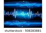 heart beat  cardiogram. pulse... | Shutterstock .eps vector #508283881