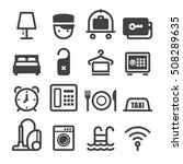 hotel icons | Shutterstock .eps vector #508289635