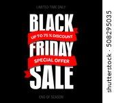 black friday sale inscription... | Shutterstock .eps vector #508295035