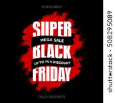 black friday sale inscription... | Shutterstock .eps vector #508295089