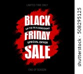 black friday sale inscription... | Shutterstock .eps vector #508295125