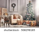 merry christmas and happy... | Shutterstock . vector #508298185