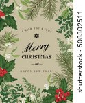 greeting christmas card in... | Shutterstock .eps vector #508302511