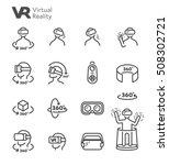 vr virtual reality 360 degree... | Shutterstock .eps vector #508302721