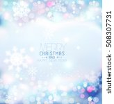 vector background for christmas ... | Shutterstock .eps vector #508307731