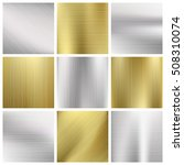 metal vector textures set.... | Shutterstock .eps vector #508310074