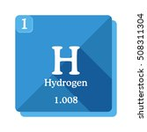 hydrogen chemical element.... | Shutterstock .eps vector #508311304