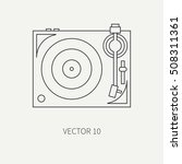 line flat vector icon with... | Shutterstock .eps vector #508311361