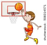 Man Shooting Basketball In The...