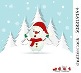 christmas greeting card with... | Shutterstock .eps vector #508319194
